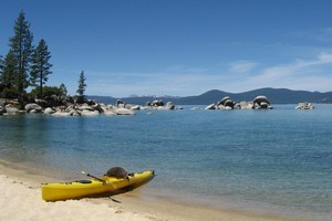 Lake Tahoe, a 90-minute drive from Reno, is perfect for kayaking, sailing and hiking. Photo / Rob McFarland