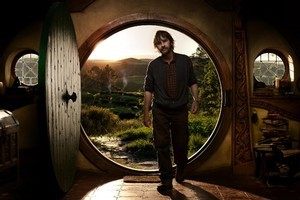 Peter Jackson on the set of The Hobbit. Photo / supplied