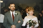 Malcolm Webster and Felicity Drumm on their wedding day in Auckland 1997. Photo / Supplied