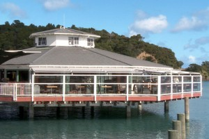The 35 Degrees South Aquarium Restaurant & Bar on the Paihia waterfront. Photo / Supplied