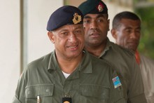 Commodore Frank Bainimarama (pictured) is pursuing extradition for Lieutenant-Colonel Ratu Tevita Mara who has fled to Tonga. Photo / Greg Bowker