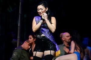Tina Cross plays the part of nightclub hostess Gigi. Photo / Natalie Slade