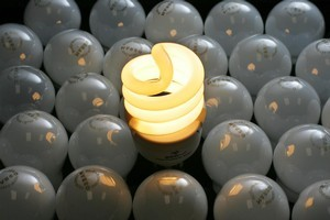 Energy-efficient bulbs use up to 80 per cent less energy. Photo / Brett Phibbs