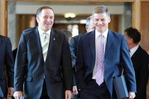 John Key and Bill English. Photo / Mark Mitchell