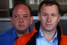 Prime minister John Key and Pike River Coal CEO Peter Whittall. Photo / Simon Baker