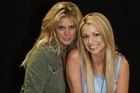 Rachel Hunter and Erin Simpson during the Rise Up Christchurch telethon appeal. Photo / Getty Images