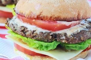 Cajun beef burgers. Photo / Ian Jones