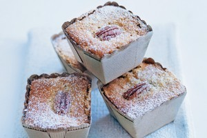 Pear, pecan and maple cakes. Photo / Chris Court