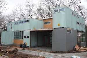 This Missouri house is constructed from repurposed shipping containers. Photo / Flickr, homecontained