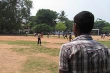 Children playing cricket in Kochi, Kerala. Photo / Daniel Grade