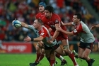 The Reds and the Crusaders facing off last Sunday. Photo / Getty Images