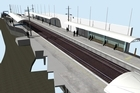 An artist's impression of the canopies at Kingsland station. Photo / Supplied