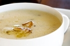 Leek and potato soup. Photo / Babiche Martens