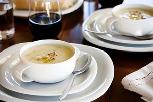 Leek and potato soup. Photo / Babiche Martens