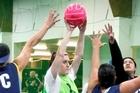 Teams play mixed netball at the Kumeu Indoor Sports Centre. Photo / Steven McNicholl