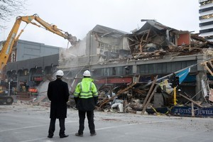 Demolition companies say their crews can't work seven days a week in central Christchurch. Photo / Mark Mitchell