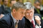 Finance Minister Bill English with Treasury Secretary John Whitehead, who vacated the post this week. Photo / Mark Mitchell
