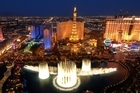 The Las Vegas Strip seen from the Bellagio Casino/Resort Bell tower. Photo / Supplied