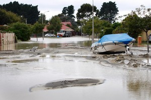 KiwiSaver investments have been compared to the shaky situation in Christchurch - with liquefaction a possibility. Photo / Sarah Ivey