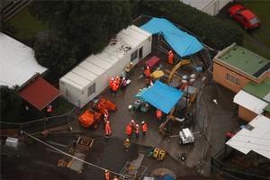 The site of the Onehunga blast. Photo / Herald on Sunday