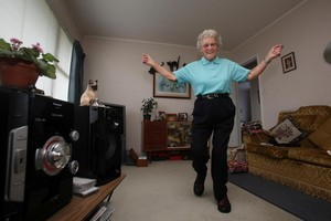 Tauranga granny Melva Cummins has been invited to star in a music video for The Brow Horn Orchestra in Australia after her funky moves became a YouTube hit. Photo / Joel Ford/Bay of Plenty Times