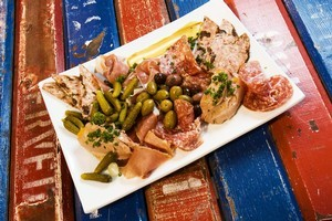 La Cigale's charcuterie plate was delicious and generous. Photo / Paul Estcourt