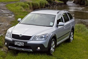 The Scout is basically an Octavia wagon with all wheel drive and a bit more height. Photo / Supplied