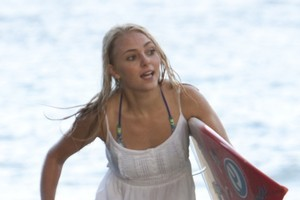 The stars of the true-life story of Bethany Hamilton, including AnnaSophia Robb, above, have good looks on their side. Photo / Supplied