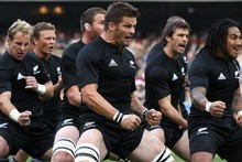 Richie McCaw and team do the haka. Photo / Getty Images