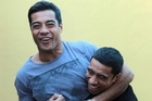 Pua and Robbie Magasiva. Photo / Doug Sherring