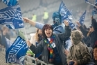 Blues Fans at Eden Park Auckland. Photo / Richard Robinson