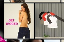 Supre stores in New Zealand and Australia have stopped the jeggings campaign but the images were on its website yesterday. Photo / Supplied