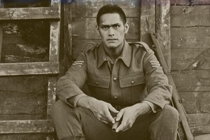 Matu Ngaropo plays Tawera in Te Awarua which evokes the legend of Hinemoa and Tutanekai in a World War I setting. Photo / Supplied