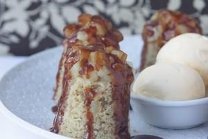 Pear Saxony pudding. Photo / Ian Jones