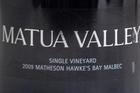 2009 Matua Valley Single Vineyard Malbec $70 cellar door. Photo / Natalie Slade