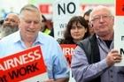 Helen Kelly (centre) wants the union movement back on its feet. Photo / APN