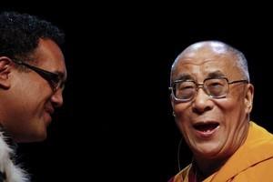 The Dalai Lama dispensing wisdom. Photo /  Getty Images