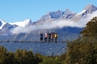 Pyke River Swingbridge on the Hollyford Track. Photo / Supplied