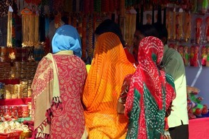 Women shopping in Rajasthan. Photo / Dennis Richardson