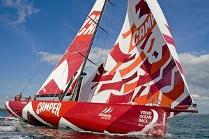 Team New Zealand's new boat Camper. Photo / Getty Images