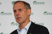 Australian Green Party leader, Senator Bob Brown speaks at the New Zealand Green Party Conference at Te Mahurehure Marae in Auckland. Photo / Getty Images