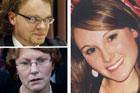 Killer Clayton Weatherston (top left), Lesley Elliott (below) and Sophie Elliott.