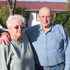 Elizabeth and Ken Free with liquefaction and water on their Goodman Street property in Burwood. Photo / Geoff Sloan