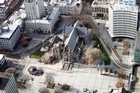 The Christchurch Cathedral after this week's 6.3 earthquake. Photo / NZPA/Pam Johnson