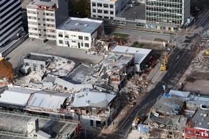 Plans for rebuilding Christchurch's central city have not been delayed by Monday's major aftershocks. Photo / NZPA/Pam Johnson
