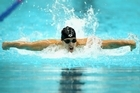 Moss Burmester competes in the Men's 200m Butterfly during the Delhi 2010 Commonwealth Games. File photo / Getty Images