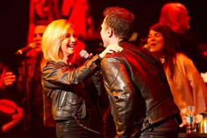 Olivia Newton-John (left) performs a duet with David Campbell. Photo / Kurt Sneddon