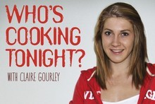 Book cover of Who's Cooking Tonight by Claire Gourley. Photo / Supplied 