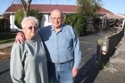 Elizabeth and Ken Free of Goodman St, Burwood, now face their third clean-up of liquefaction muck. Photo / Geoff Sloan