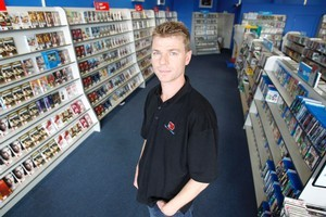 Ground rent for Paul Bray's Video Ezy store in Quay St will go from zero to $70,000 a year. Photo / Steve McNicholl